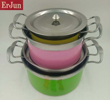 Best selling product stainless steel buffet soup pot/color pot/stainless pan