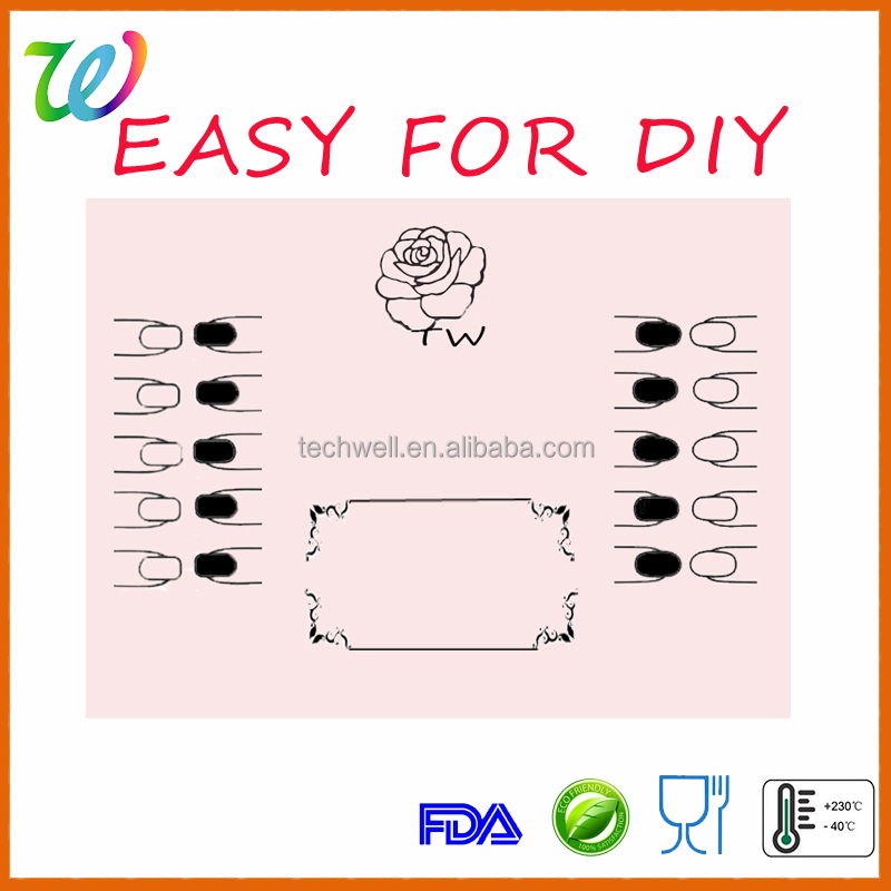 2016 Amazon best selling nail decoration tool silicone stamping plate nail art nail art set
