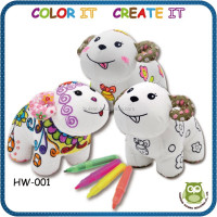 kids educational creative DIY painting plush toy