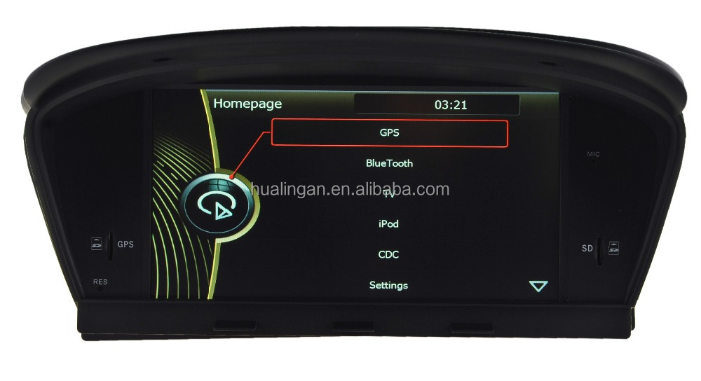 "Dashboard Placement 8.8"" Screen Size car dvd for bmw e60"