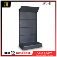 Black hole backboard metal display shelves for retail stores