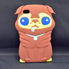 For Iphone silicone durable cell phone case 3D cartoon dog case back cover