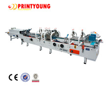 ZH-800G Paper Box Making Lines Machinery / High Speed Automatic Folder Gluer