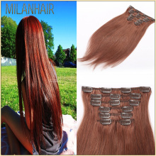 Top Quality No Shedding Wholesale Brazilian Clear Clip Hair Products