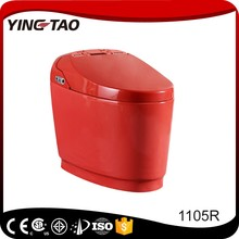 bathroom ceramic S-trap red color 220V toilet intelligent