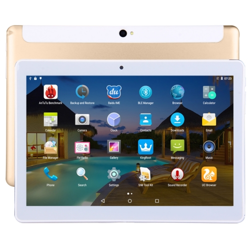 Cheap 3G Phone Call Tablet 32GB 10.1 inch Android 5.1 MTK6582 Quad Core 1.3GHz, RAM: 2GB, Dual SIM, Support GPS / OTG