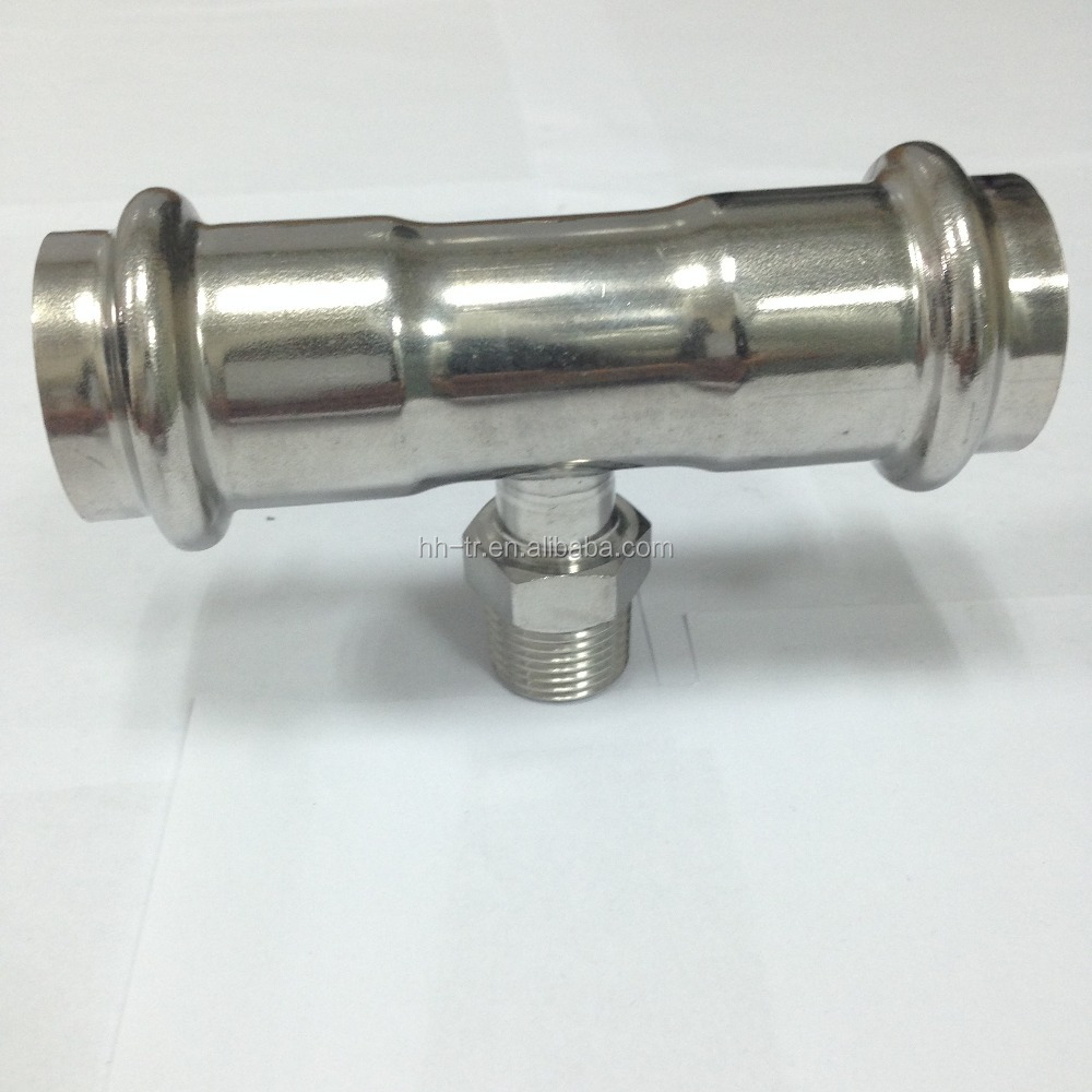 China manufacturer stainless steel compression fitting male tee