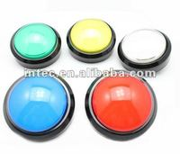 100mm plastic push button switch electric pushbutton switch with light Large game accessories