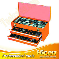 Combined Tool Kits with 2 Drawer Metal Case
