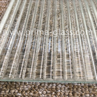 Prima 5-19mm Ribbed Laminated Glass For Commercial Building