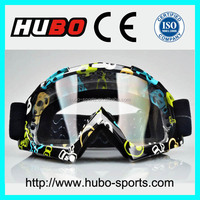 Mixed colors frame anti fog riding goggles dirt bike