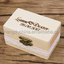 2018 China New Design Excellent quality small wooden box for wedding gift