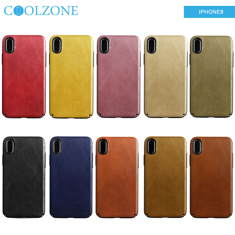 New arrival PC stick PU case for iphone X mobile phone accessories