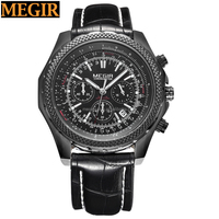 Relogio Masculino Megir Mens Watches Top Brand Luxury Men Nylon Strap Watches Quartz