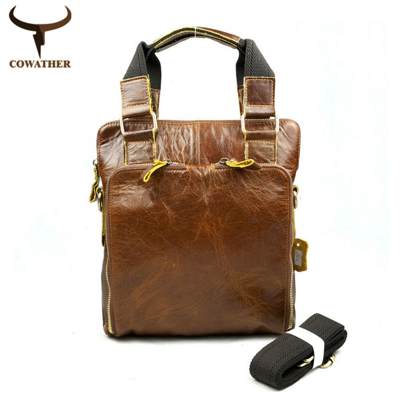 2015 vintage handbags for men casual totes 100% cow genuine leather shoulder bags pure manual durable non-fading free shipping