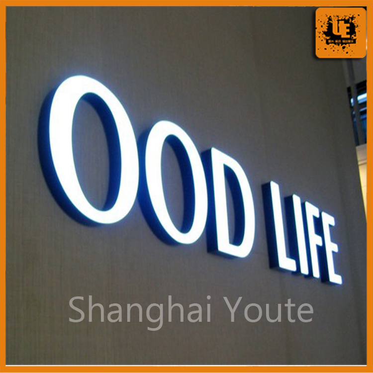 New discount! customized led channel letter lighted advertising signs light box letters,aluminum material with great price