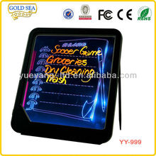 led displays message menu writing board light up boad plastic board