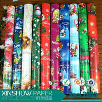Many design wrapping paper for wrapping christmas gift