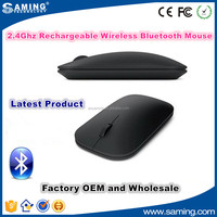 Factory Latest univesal slim 2.4Ghz rechargeable wireless bluetooth mouse