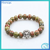 2016 Natural Unakite Stone 8mm Beads