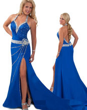 Royal Blue Wedding Dresses Party Dress with Rhinestones RO11-05