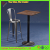 (SP-BT702) Wholesale bar Industrial wooden top rustic cocktail tables
