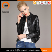 YEEL OEM outsourcing western style long sleeve lady leather king jackets