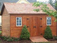 prefab shed, cabanon, maison de jardin