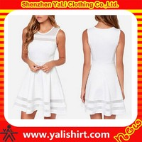 New fashion best quality cheap fitness cotton sleeveless summer ladies dresses for 80s