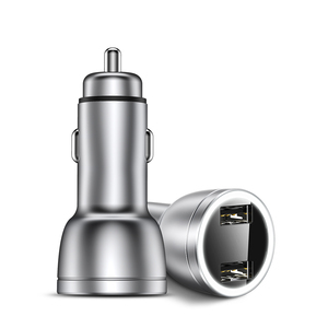 Licheers 3.4A fast charging metal dual usb car charger all metal fast car usb charger dual usb metal car charger