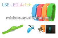 various colors led watch usb, branding your logo watch usb, Professional OEM led watch usb flash drive