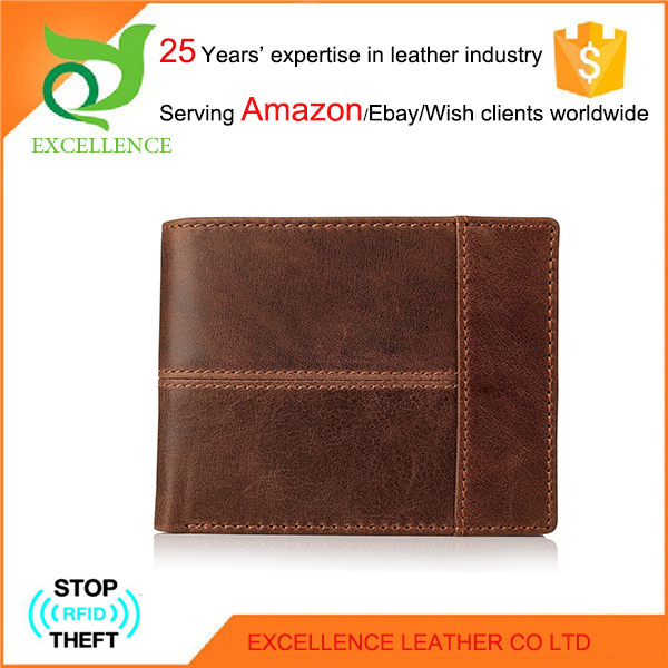 Stylish leather wallet for men Rfid Wallet OEM/ODM Factory 25 Years' Experience