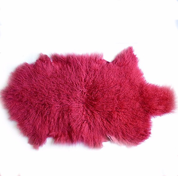 Wholesale 100% Tibet Mongolian Lamb Curly Fur Wool rug