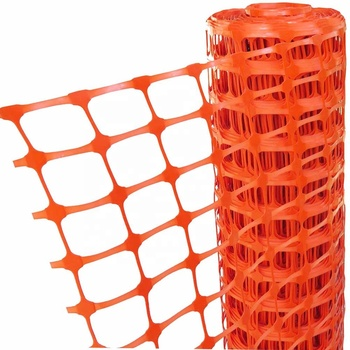 Industrial construction sites orange plastic safety fence barrier fencing mesh  safety fence