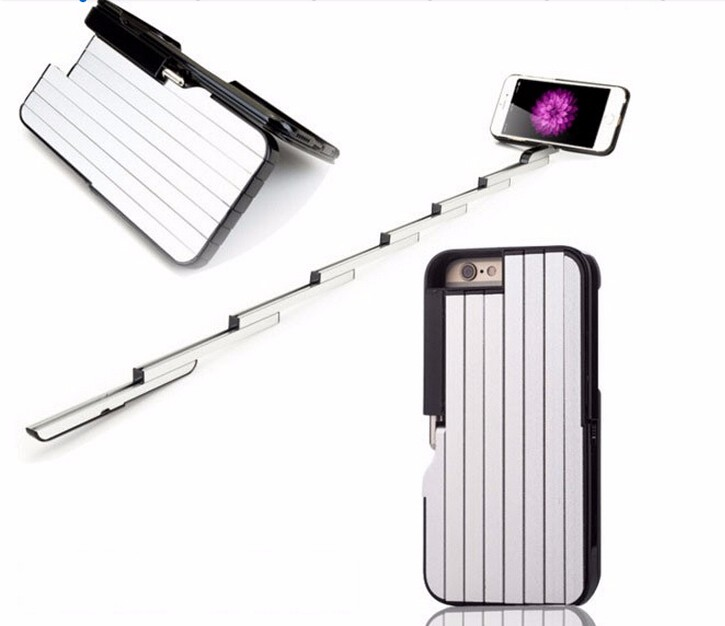 2016 Lastest Selfie Stick Case Handheld Selfie Extendable selfie stick unreal Phone Case For smart phone