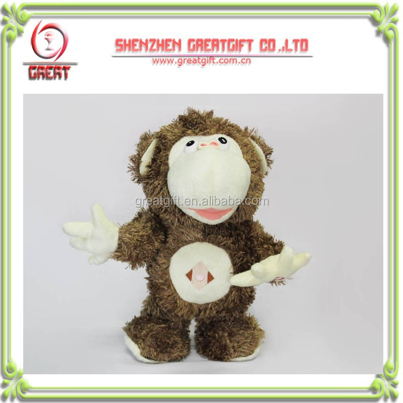 electronic singing and dancing monkey plush toy