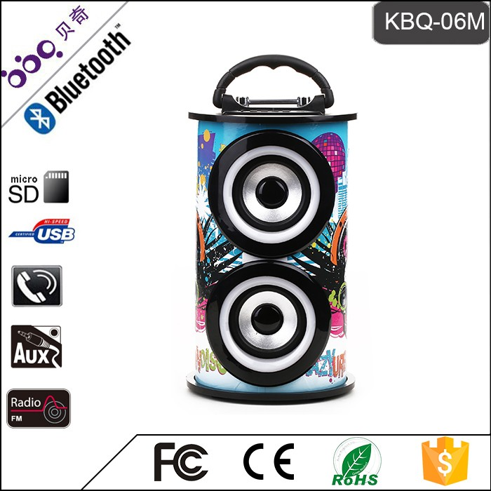 BBQ KBQ-06M 10W 1200mAh Hot Sale Metal Popular Cheap Waterproof Wireless Bluetooth Speakers MP3