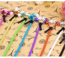 Very popular high quality 9 colors zipper earphone Cheap wired good quality Zipper Headset wholesale from China
