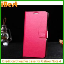 iBest 2014 New Arrival Wallet flip leather case for samsung galaxy note 4,fancy case for samsung galaxy note 4