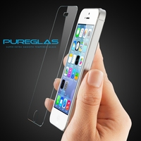 Pureglas mobile phone clear tempered glass screen guard for iphone 5 screen saver, smart phone lcd screen protector
