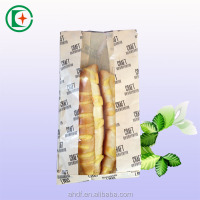 2016 Promotional greaseproof bread packaging brown kraft food paper bag with clear window