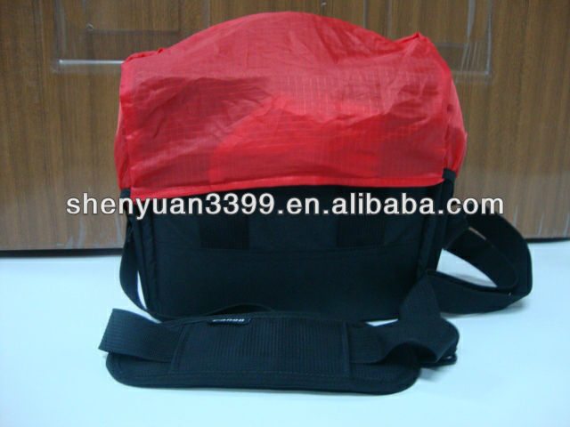 2012, hot sell high quality 600D nylon camera bag with waterproof cover,have in stock
