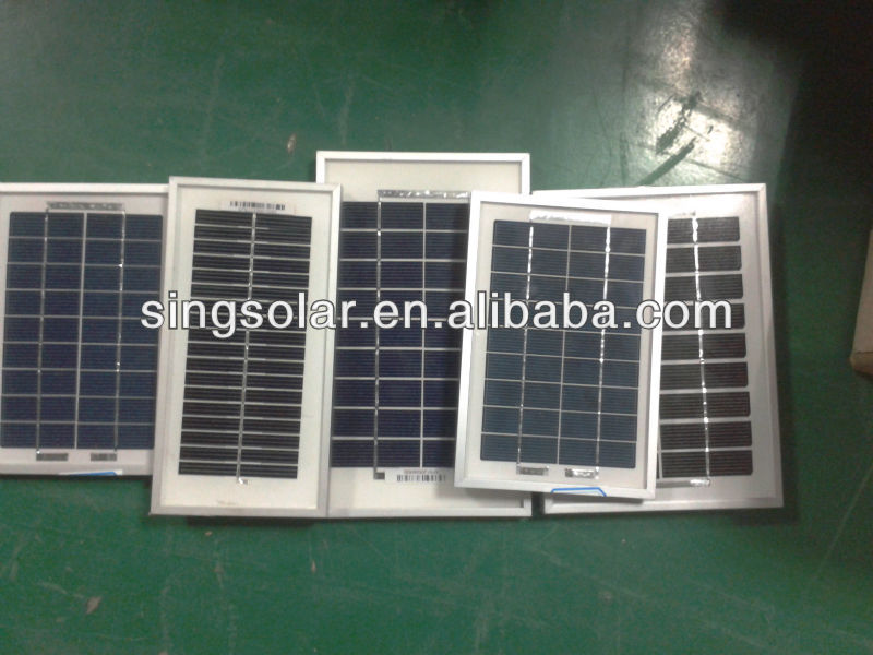 3W 5W 6v 12v Polycrystalline Small Solar Panel for Toys With RoHS CE&TUV Certificate