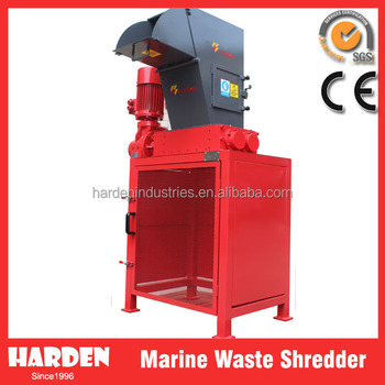 Maritime solid waste management shredder