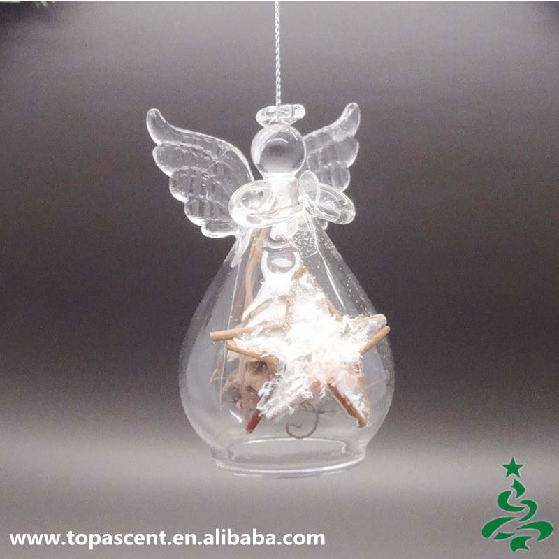 Christmas Decorations To Buy In China: 2015 Delicate Glass Hanging Christmas Angels Decorations