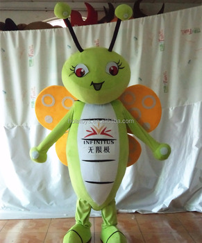 Cute style green butterfly mascot costume/adult butterfly costume for cosplay