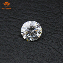 Gran tamaño blanco PUREZA VVS moissanite diamante 11mm 4 quilates de 5 quilates con precio al por mayor