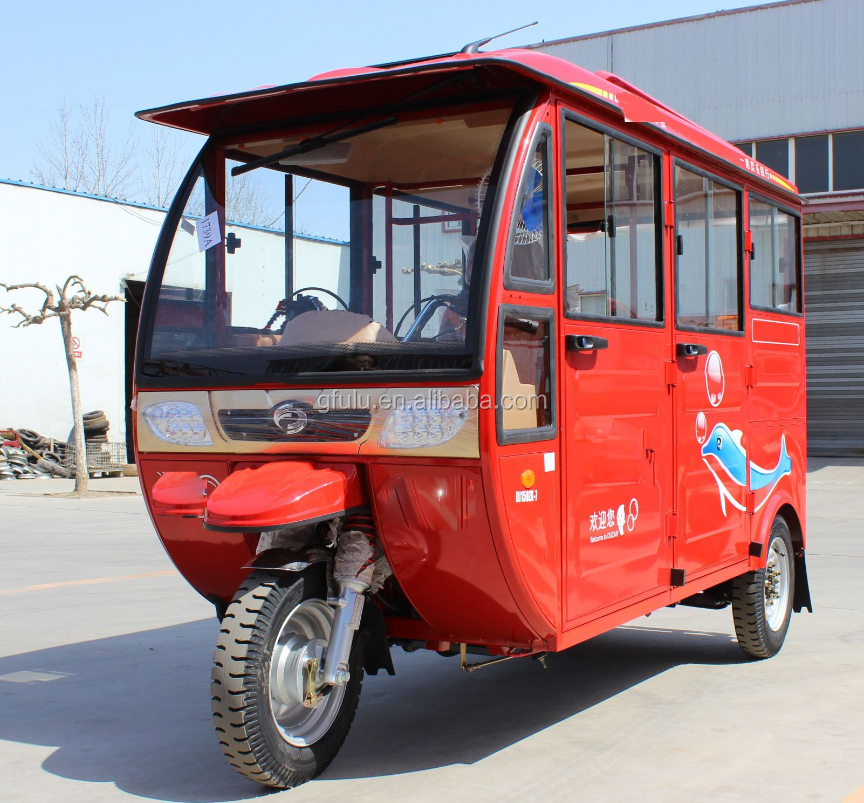 China top quality closed cabin 5-6 passenger Tuktuk motorcycle best selling in Southeast Asian
