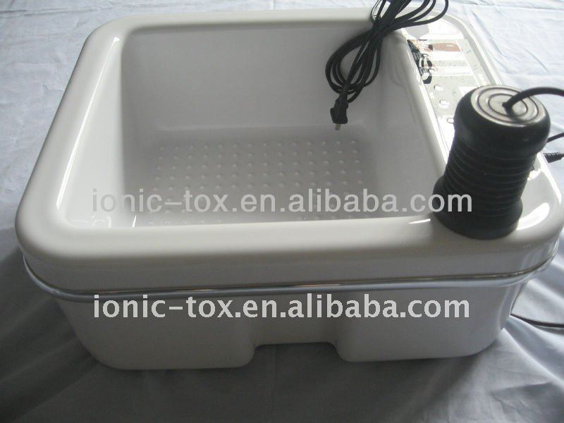 ionic foot detox cleanse bath massage spa provide liver,kidney and parasitic cleansing
