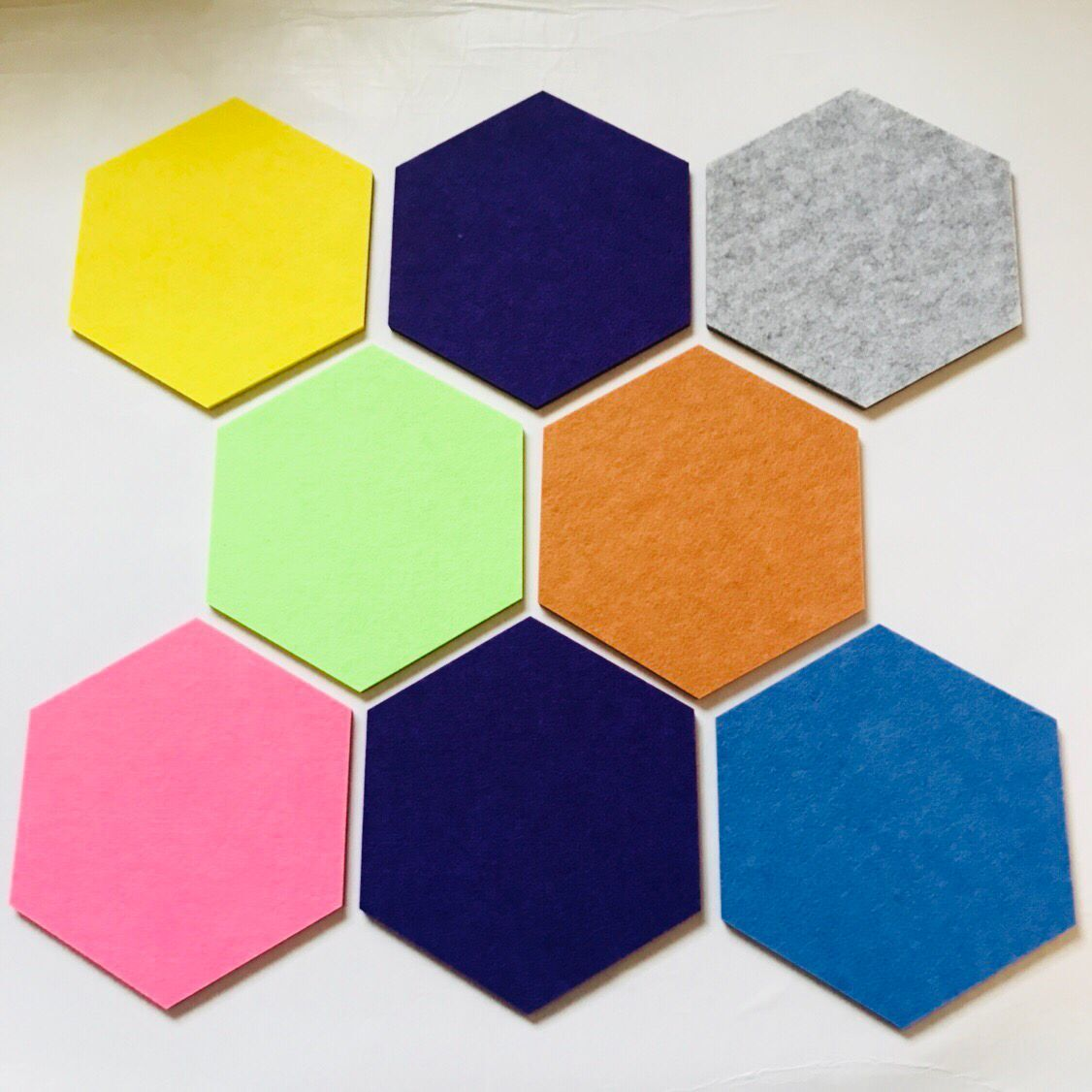 decorative soundproof wall <strong>panel</strong> Hexagon PET felt 100% polyester acoustic <strong>panel</strong>
